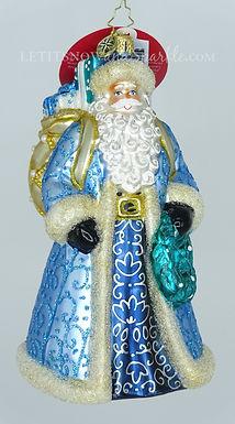 Christopher Radko I'll Have A Blue Christmas Santa 1020294 Christmas Ornament