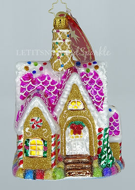 Christopher Radko A Delectable Dwelling Gingerbread House 1020439