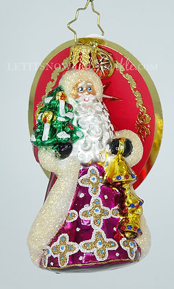 Christopher Radko Jingle for All to Hear Gem Santa 1020246 Christmas Ornament
