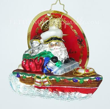 Christopher Radko Nautical Nick Little Gem 1019178 Unique Christmas Ornament