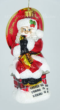 Christopher Radko Smooth Jazz Santa 1020458 Unique Christmas Ornament