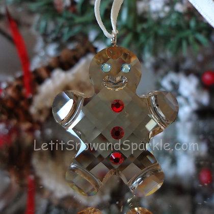 Swarovski Georgie the Gingerbread Man 872198 Christmas Ornament Retired