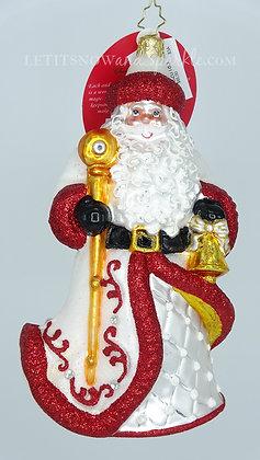 Christopher Radko Kris Trimmed In Crimson Santa 1020183 Christmas Ornament