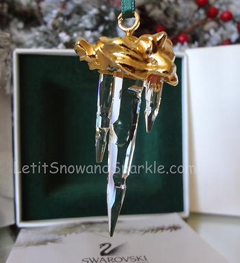Swarovski Crystal Memories Icicle 211087 Christmas Ornament Retired