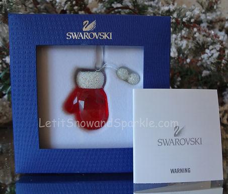 SWAROVSKI SANTA'S MITTEN 1086147 CHRISTMAS ORNAMENT RETIRED