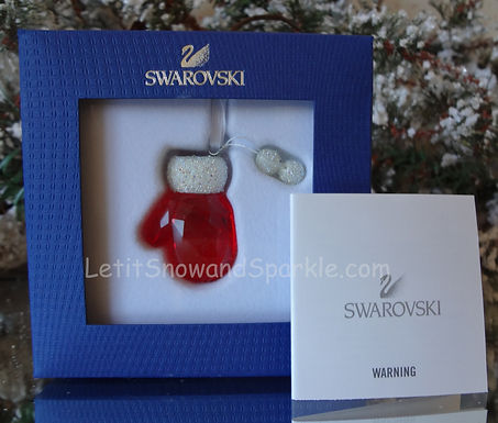 SWAROVSKI SANTA'S MITTEN 1086147 CHRISTMAS ORNAMENT RETIRED