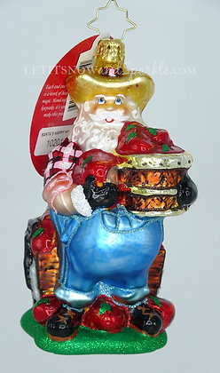Christopher Radko Santa's Happy Harvest 1020161 Unique Christmas Ornament