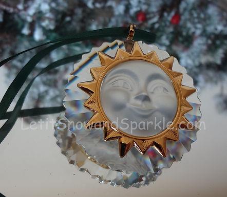 Swarovski Crystal Memories Sun 203082 Christmas Ornament Retired