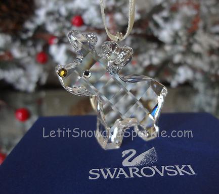 Swarovski Robbie the Reindeer Clear 845633 Christmas Ornament Retired