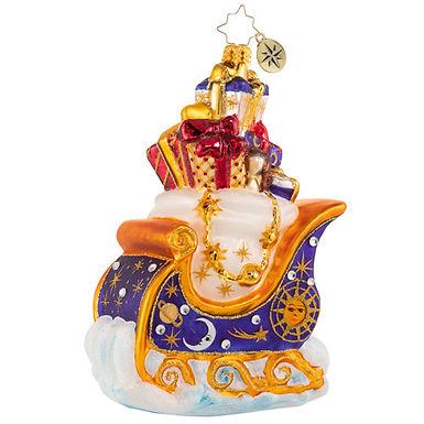 Christopher Radko Interstellar Sleigh Ride 1020862 Christmas Ornament