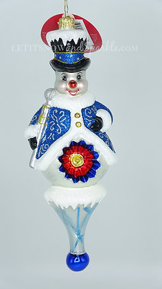 Christopher Radko Holiday Reflection Snowman 1020299 Christmas Ornament