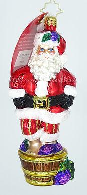 Christopher Radko Santa's Christmas Spirit Wine Making 1019874 Ornament