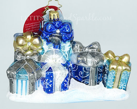 Christopher Radko Presenting an Elegant Ensemble 1019518 Christmas Ornament