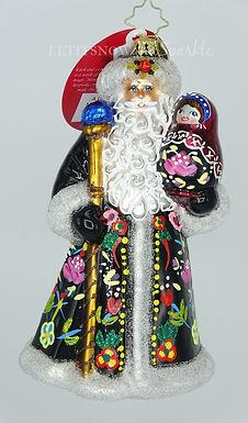 Christopher Radko A Gift Of A Matryoshka Doll Santa 1019968 Christmas Ornament