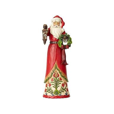 Jim Shore Heartwood Creek Tall Narrow Santa with Lantern 6001472 New 2018