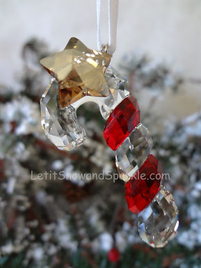 Swarovski Sparkling Candy Cane 1054569 Christmas Ornament Retired