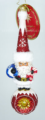Christopher Radko Small but Mighty Santa! 1019689 Unique Christmas Ornament