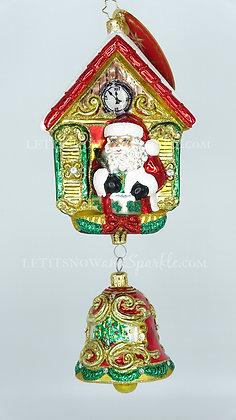 Christopher Radko It's Christmas Chime Santa 1019877 Unique Christmas Ornament