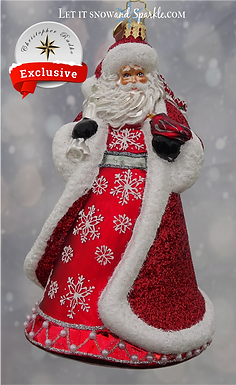 Christopher Radko Let it Snow and Sparkle Santa 1st Edition Exclusive Limited