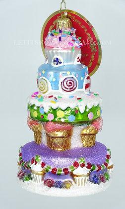Christopher Radko Deliciously Delightful Cake 1019673 Unique Christmas Ornament