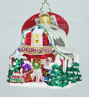 Christopher Radko North Pole Tree Farm Gem 1019662 Unique Christmas Ornament