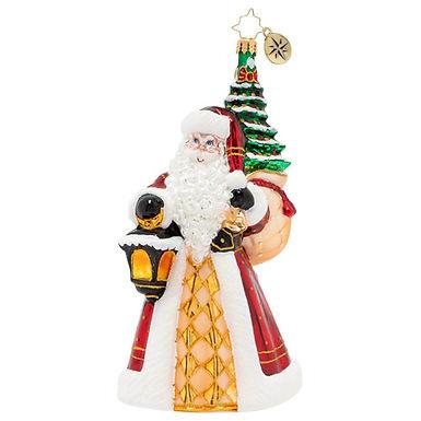 Christopher Radko Santa Leaves The Light On 1020224