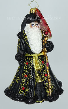 Christopher Radko St. Nick's Grand Getup Santa 1020430 Christmas Ornament