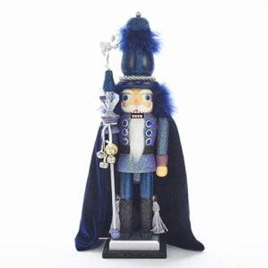 Kurt Adler HA0365 16 inch Hollywood Dark Blue and Purple Soldier Nutcracker New