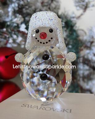 SWAROVSKI CRYSTAL SNOWMAN CHRISTMAS FIGURINE