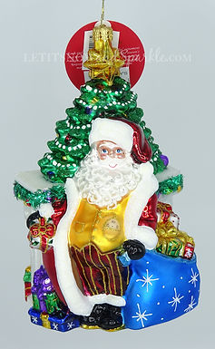 Christopher Radko The Big Day's Arrived! Santa 1020350 Christmas Ornament