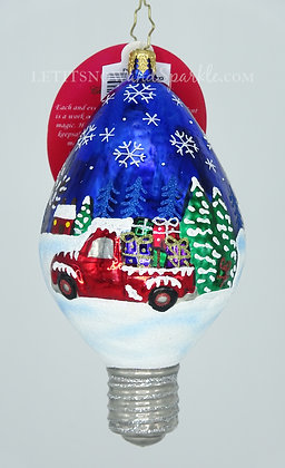 Christopher Radko Light Up Christmas Cheer 1020334 Unique Christmas Ornament