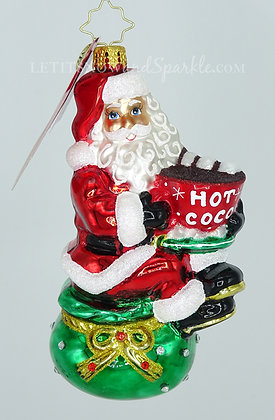 Christopher Radko Don't Forget The Marshmallows Santa 1020546 Christmas Ornament