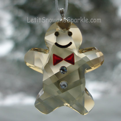 Swarovski Twinkling Gingerbread Man 1096031 Christmas Ornament Retired