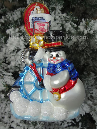 Christopher Radko Gearing Up For Christmas Snowman 1019506