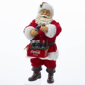 Kurt Adler CC5161 10 inch Fabriche Santa Opening Coca-Cola New 2018