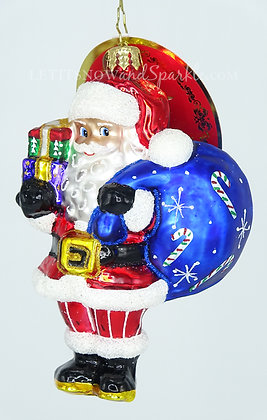 Christopher Radko Jolly Saint Nick! 1019932 Unique Christmas Ornament