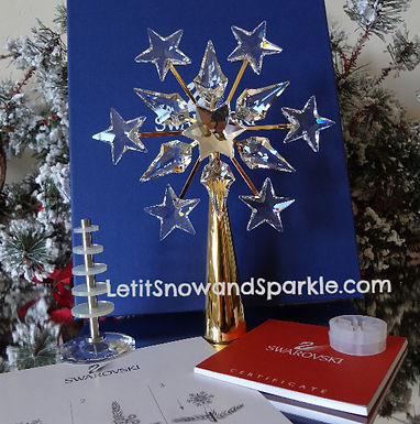 2005 SWAROVSKI GOLD CHRISTMAS TREE TOPPER