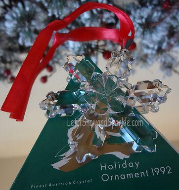 1992 Swarovski Annual Edition Christmas Ornament