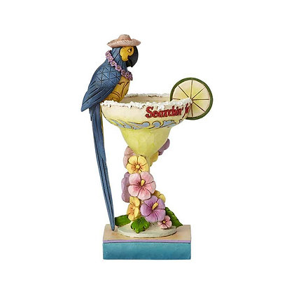 Jim Shore Margaritaville Parrot Cocktail 6001536 New 2018