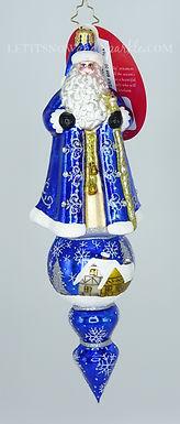 Christopher Radko Santa Is Tops! 1020199 Unique Christmas Ornament
