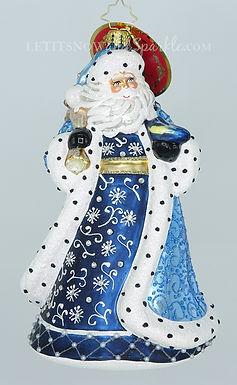 Christopher Radko Debonair Winter Santa 1019668 Unique Christmas Ornament
