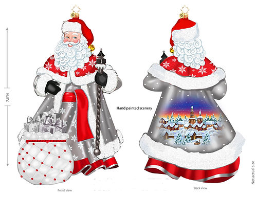 Christopher Radko Let it Snow and Sparkle Santa 2nd Edition Exclusive Limited