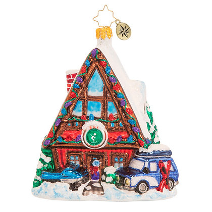 Christopher Radko Hillside For The Holidays House 1020543 Christmas Ornament