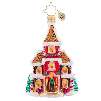 Christopher Radko Grandeur in Ginger Little Gem 1020562 Christmas Ornament