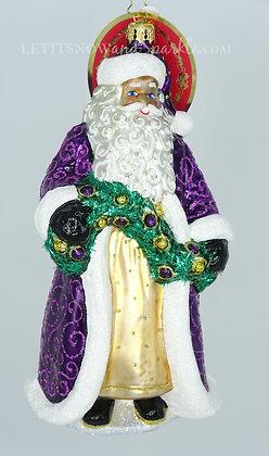 Christopher Radko Santa's Got a Brand New Coat 1020086 Unique Christmas Ornament
