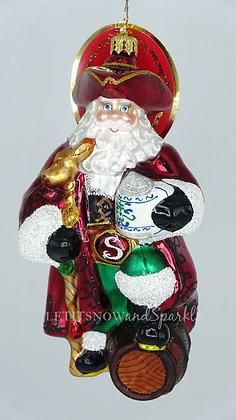 Christopher Radko A Keg For Kris Kringle Santa 1020296 Christmas Ornament