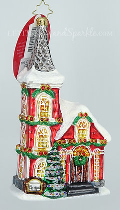 Christopher Radko The Charming Chapel Cottages Houses 1020104 Christmas Ornament
