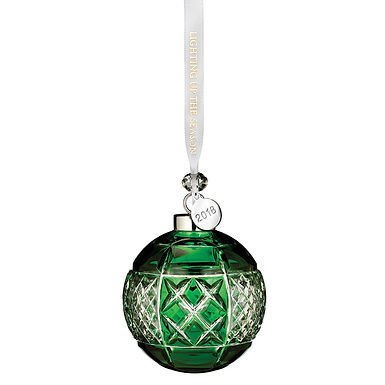 Waterford 2018 Emerald Ball Ornament 40032596