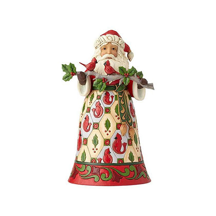 Jim Shore Heartwood Creek Lapland Santa with Cardinals 6001468 New 2018