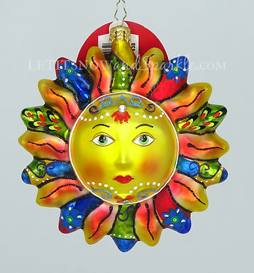 Christopher Radko Blazing Sun 1019691 Christmas Ornament
